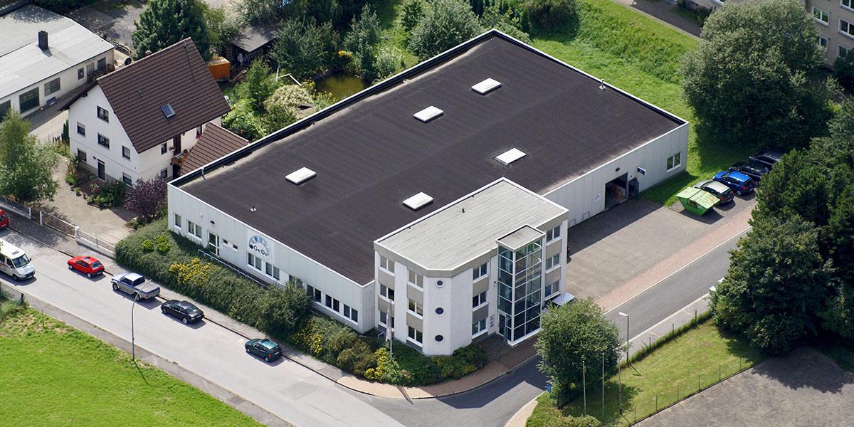GeDe Firmengebäude Luftaufnahme