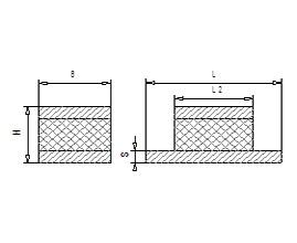 Maschinenlager / Flachlager /  Gummi-Metall-Schienen