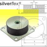 GeDe-Maschinenfüße-Gummi-Metall-Puffer-Silverflex