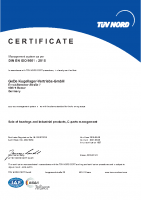 GeDe Certificate DIN EN ISO 9001 : 2015 / englisch
